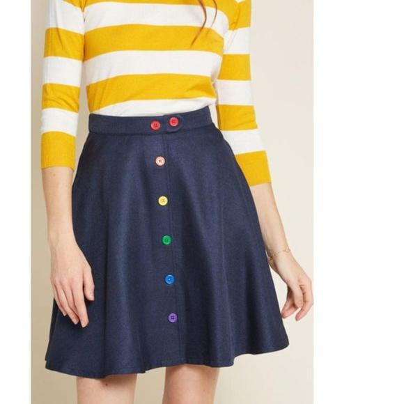 6e49dd4e76 Modcloth Skirts | Dazzled By Detail Aline Skirt | Poshmark